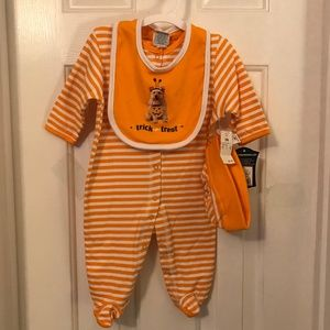 Baby Halloween 3-Piece Coverall Set 3 Months NWT